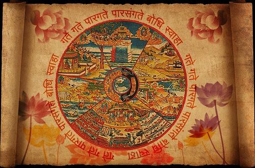 samsara wheel of rebirth and death in various realms by Hanciong