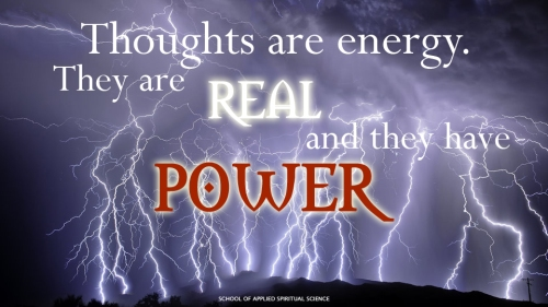Thought are energy